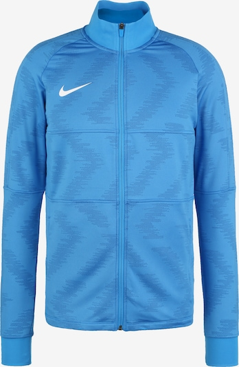 NIKE Trainingsjacke 'Strike Track' in blau / weiß, Produktansicht