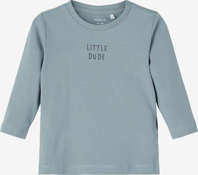 NAME IT Shirt 'Luke' in de kleur Rookgrijs / Zwart, Productweergave