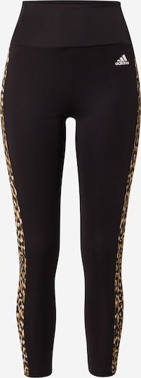 Pantaloni sportivi ADIDAS PERFORMANCE di colore beige chiaro / beige scuro / nero, Visualizzazione prodotti