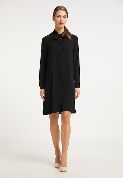 Rochie tip bluză usha BLACK LABEL pe negru, Vizualizare model