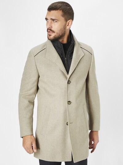 S4 Jackets Mantel in beige / greige, Modelansicht