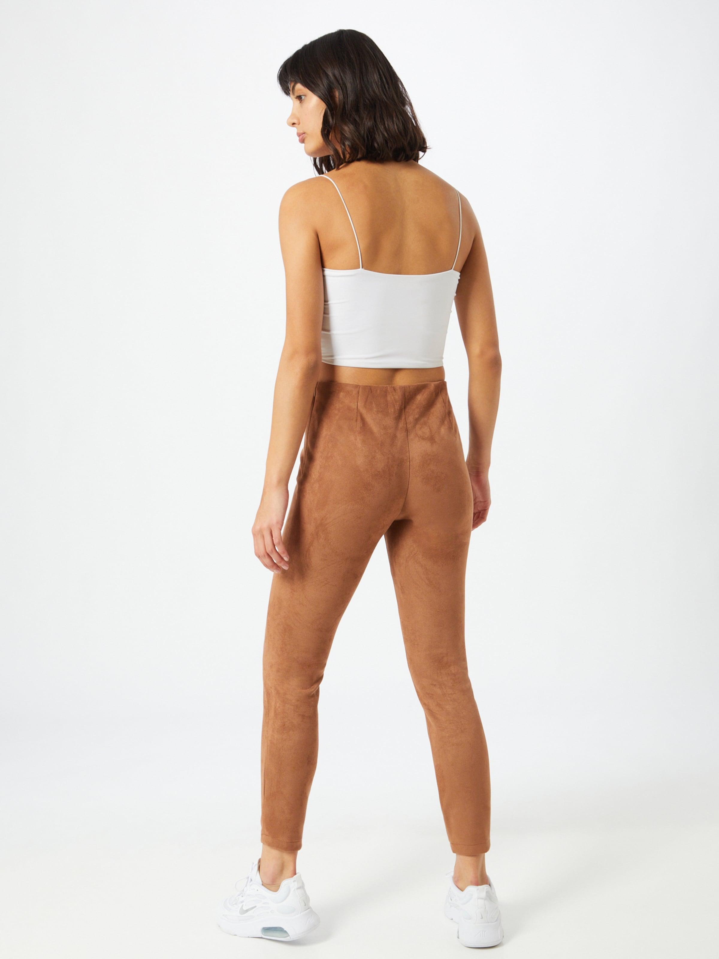 VILA Leggings 'Faddy' barna színben