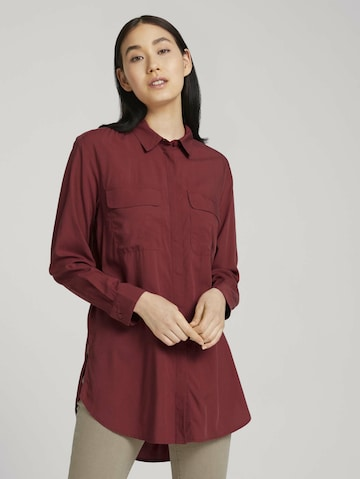 TOM TAILOR Bluse in Rot