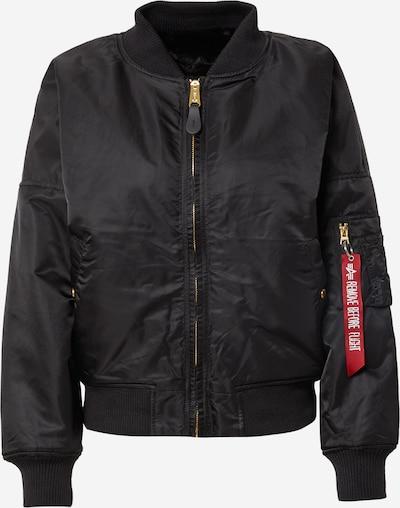 ALPHA INDUSTRIES Φθινοπωρινό και ανοιξιάτικο μπουφάν σε μαύρο, Άποψη προϊόντος