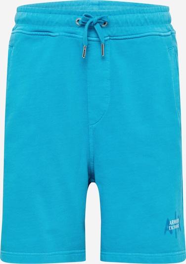 ARMANI EXCHANGE Pantalon en bleu / turquoise / blanc, Vue avec produit