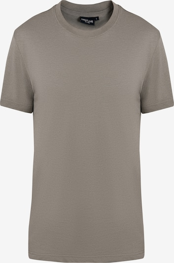 Finn Flare Basic-Shirt für Herren in melierter Optik in grau, Produktansicht