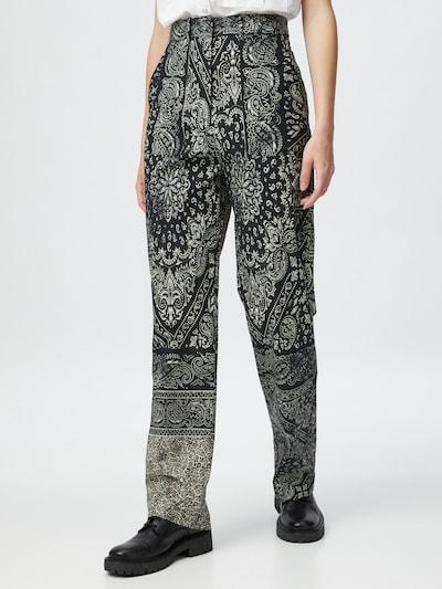Pantaloni cutați 'NUVOLARI' PINKO pe bej / maro / negru, Vizualizare model