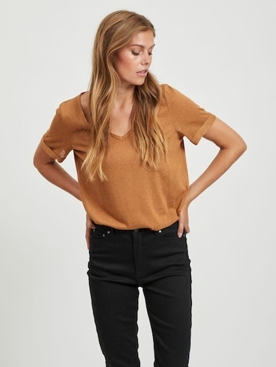OBJECT T-Shirt 'Tessi' in hellbraun: Frontalansicht