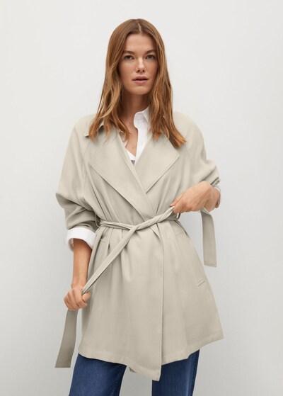 MANGO Mantel in nude, Modelansicht