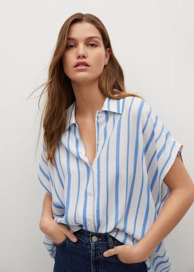 MANGO Bluza 'Jean' u nebesko plava / bijela, Prikaz modela