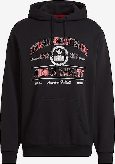 ADIDAS ORIGINALS Sweatshirt in rot / schwarz / weiß, Produktansicht