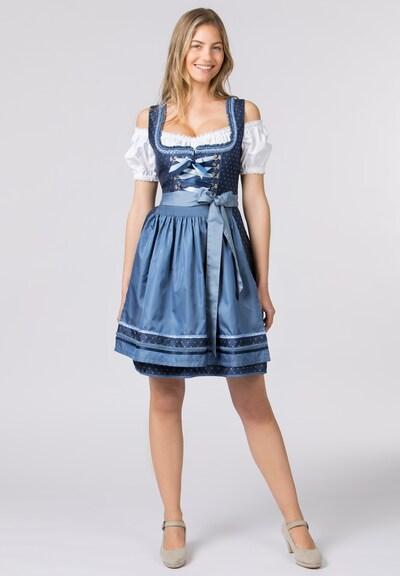 STOCKERPOINT Dirndl in blau / weiß, Modelansicht