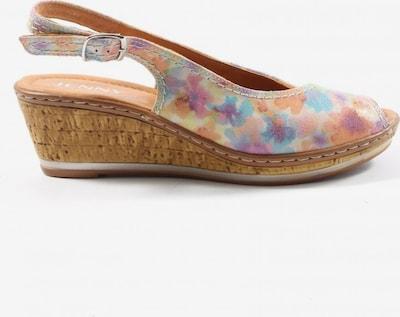 Jenny Wedges Sandaletten in 38 in blau / pastellgelb / pink, Produktansicht