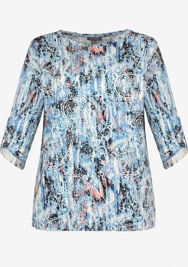 Gina Laura Shirt in blau / pink / schwarz, Produktansicht