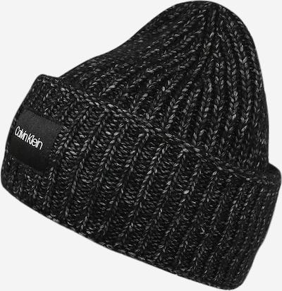 Calvin Klein Müts 'Beanie' meleeritud must, Tootevaade