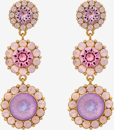 LILY AND ROSE Earrings 'Sienna' in Gold / Purple / Pink, Item view