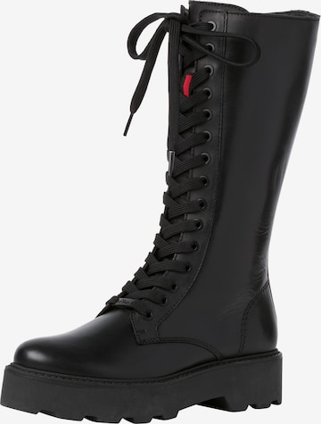 s.Oliver Lace-Up Boots in Black