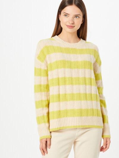LANIUS Pullover in beige / gelb, Modelansicht