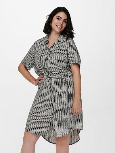 ONLY Carmakoma Kleid in schwarz / weiß, Modelansicht