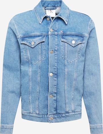 Calvin Klein Jeans Kevad-sügisjope 'PRIDE', värv sinine