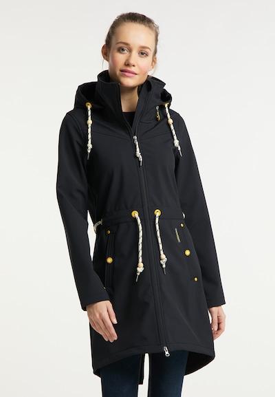 Schmuddelwedda Funktionsmantel in schwarz, Modelansicht