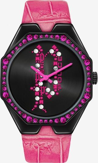 POLICE Uhr in pink / schwarz, Produktansicht