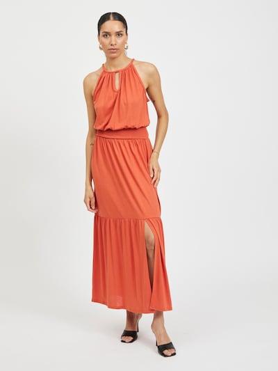VILA Společenské šaty 'Nadie' - oranžově červená, Model/ka