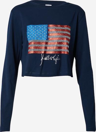 KENDALL + KYLIE Sweatshirt in de kleur Blauw / Navy / Rood / Zilver, Productweergave