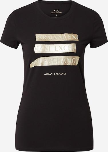 Tricou ARMANI EXCHANGE pe auriu / negru, Vizualizare produs