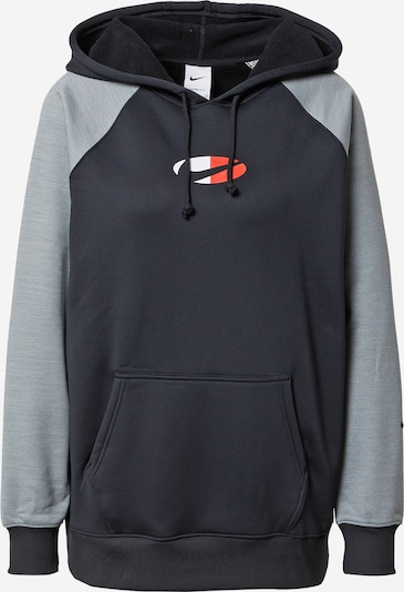 NIKE Sport sweatshirt i grå / ljusröd / svart / vit, Produktvy