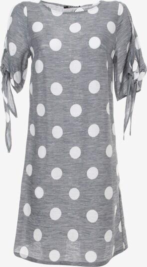 Madam-T Cocktailkleid in grau / weiß, Produktansicht