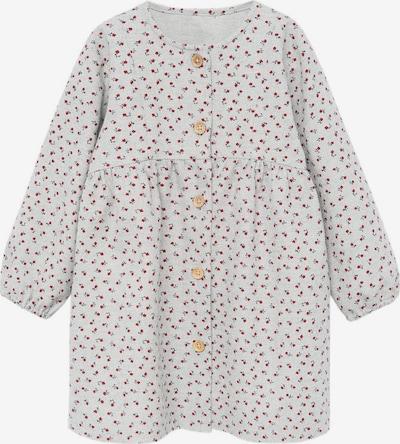 MANGO KIDS Kleid 'Clavel' in grau / dunkelgrün / rot, Produktansicht