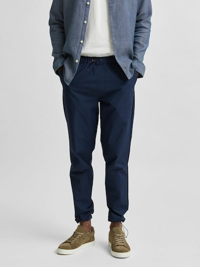 SELECTED HOMME Broek in de kleur Nachtblauw: Vooraanzicht