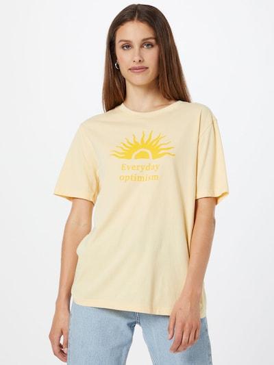 Gina Tricot Тениска 'Ellie' в жълто / светложълто: Изглед отпред