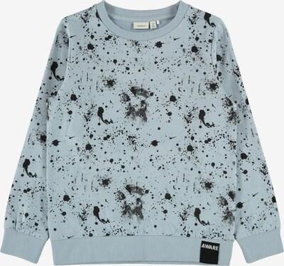 NAME IT Sweatshirt 'Bave' in rauchblau / schwarz, Produktansicht