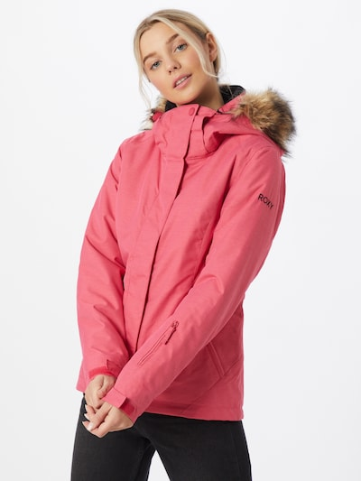 ROXY Sportjacke 'JET SOLID' in pink: Frontalansicht