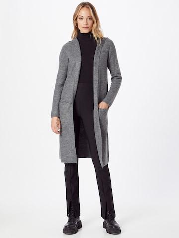 JDY Knitted Coat 'DREA' in Grey