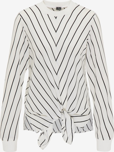 DreiMaster Maritim Bluse in schwarz / weiß, Produktansicht