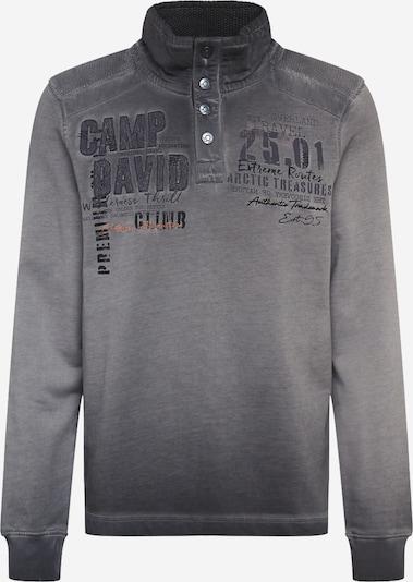 CAMP DAVID Sweat-shirt en gris foncé / orange / noir, Vue avec produit