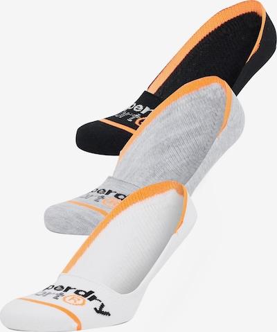 Superdry Füßlinge in graumeliert / orange / schwarz / weiß, Produktansicht