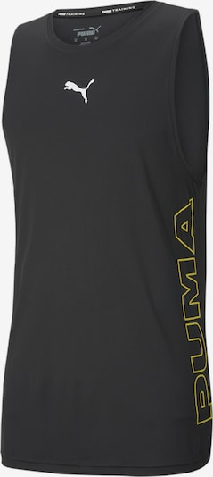PUMA Functioneel shirt in de kleur Geel / Wit, Productweergave