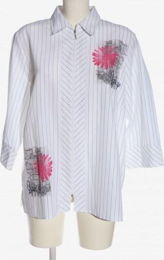 Chicc Langarm-Bluse in XXXL in pink / schwarz / weiß, Produktansicht