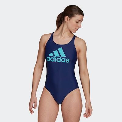 ADIDAS PERFORMANCE Active Swimsuit in Aqua / Dark blue, View model