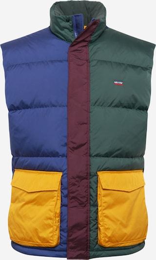 LEVI'S Vest in dark blue / dark green / wine red, Item view