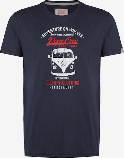 VAN ONE Shirt in de kleur Donkerblauw / Rood / Wit, Productweergave