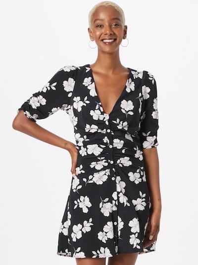 Rochie tip bluză 'Teresa' Fashion Union pe negru / alb, Vizualizare model