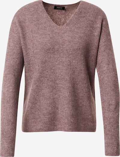 ONLY Pullover 'CAMILLA' in braunmeliert / rosa, Produktansicht