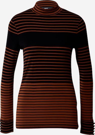 Esprit Collection Shirt in rostbraun / schwarz, Produktansicht