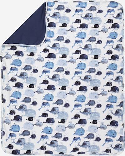 Walkiddy Babydecke in rauchblau / hellblau / dunkelblau / weiß, Produktansicht