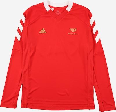 ADIDAS PERFORMANCE Sportshirt in gold / rot / weiß, Produktansicht